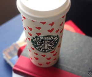 starbucks, coffee, and hearts image
