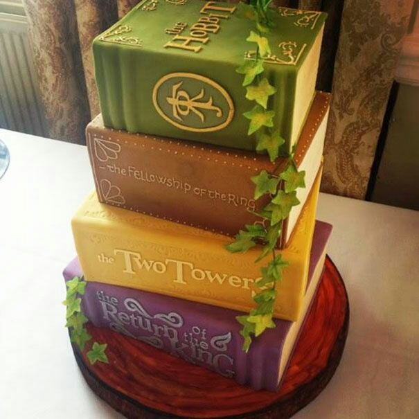 cake, book, and tolkien image