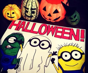 Halloween and minions image