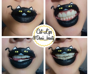 cat, lips, and instagram image