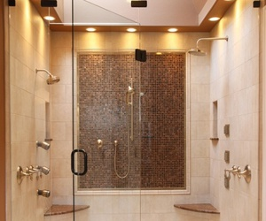 shower, luxury, and bathroom image