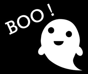 ghost, boo, and Halloween image