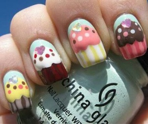 nails, cupcake, and sweet image