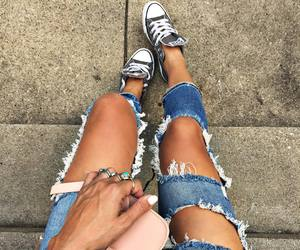 all star, jeans, and street style image