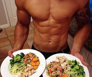 boy, food, and sexy image