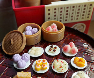 coin bank, dumplings, and etsy image
