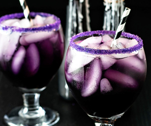 drink, Halloween, and purple image