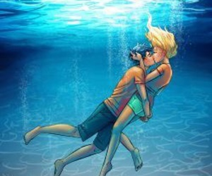 percy jackson, kiss, and percabeth image
