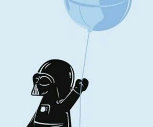 star wars, darth vader, and balloon image