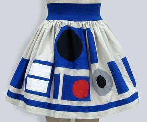 r2d2, skirt, and star wars image