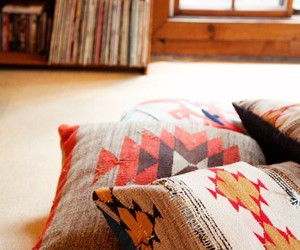 aztec, interior design, and pillows image