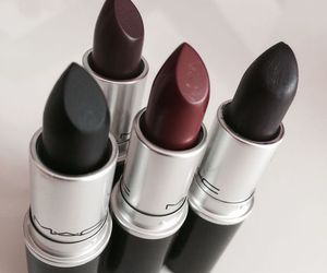 black, lipstick, and mac image