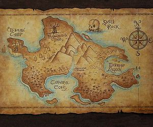neverland, peter pan, and map image