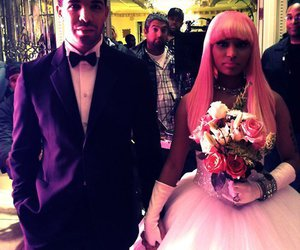 Drake, nicki minaj, and wedding image