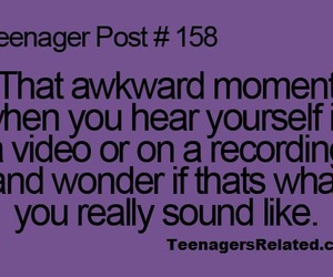 teenager post, awkward, and true image