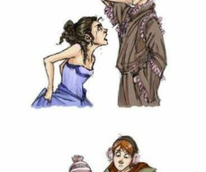 hermione, ron, and love image