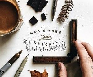 autumn, drawing, and november image