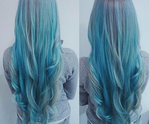 hair, blue, and fille image