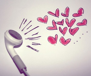 music, love, and heart image
