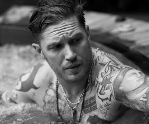 tom hardy, tattoo, and Hot image