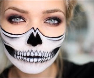 Halloween, makeup, and face image
