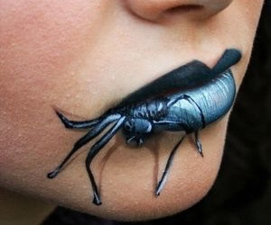 spider, lips, and Halloween image