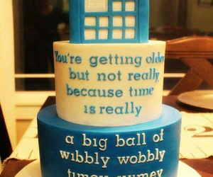 cake, doctor who, and tardis image