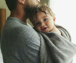 father, love, and father and kid image