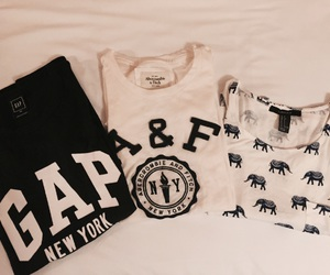 A&F, black and white, and clothes image