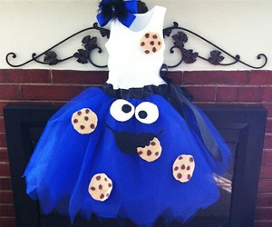 dress, blue, and cookie image