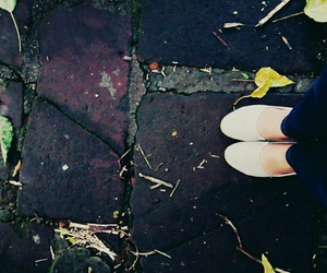 fall, floor, and shoes image