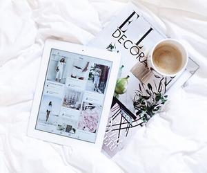 coffee, white, and ipad image
