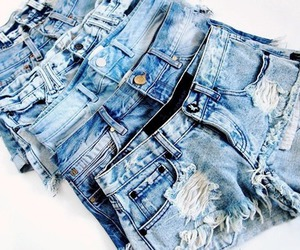 jeans, fashion, and shorts image