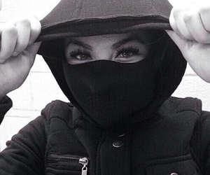 thug, cagoule, and eyes image