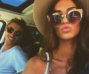 couple, sunglasses, and love image