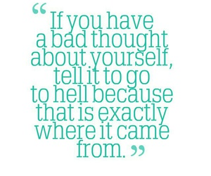 quotes, yourself, and bad thoughts image