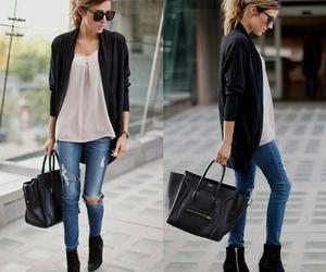 black, combination, and fashion image