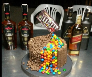 cake, m&m, and nutella image