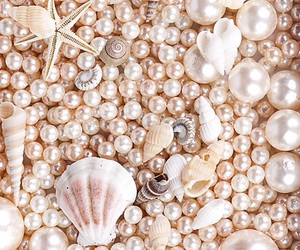 pearl, pearls, and sea image