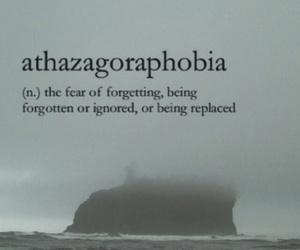 phobia, quotes, and sad image