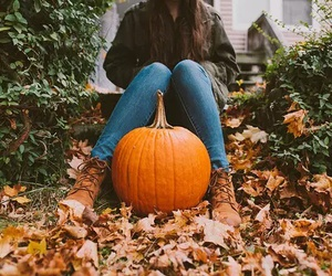 fall, Halloween, and girl image