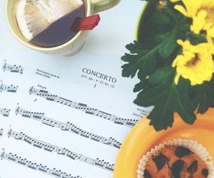 flute, tea, and music image