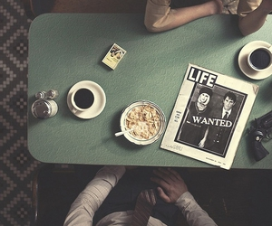 coffee, vintage, and couple image