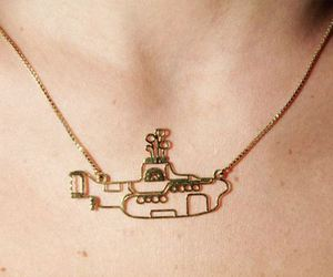 necklace, yellow submarine, and beatles image