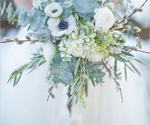 winter, bouquets, and wedding image