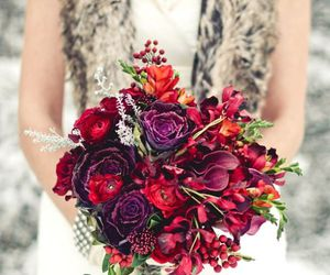 bouquets, wedding, and winter image