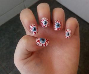 eyes, Halloween, and nail art image