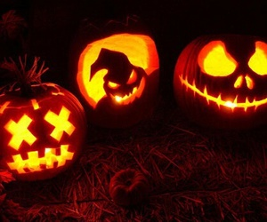 ghost, pumpkin, and Halloween image