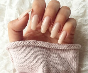 fall, manicure, and Nude image