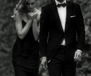 black and white, couple, and classy image